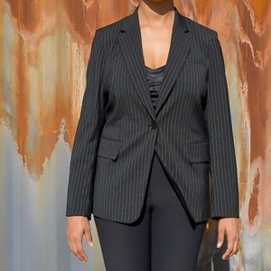 DKNY Striped Work Blazer